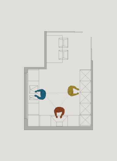 Dise o y planificaci n de cocinas acana interiorismo for Distribucion cocina en paralelo