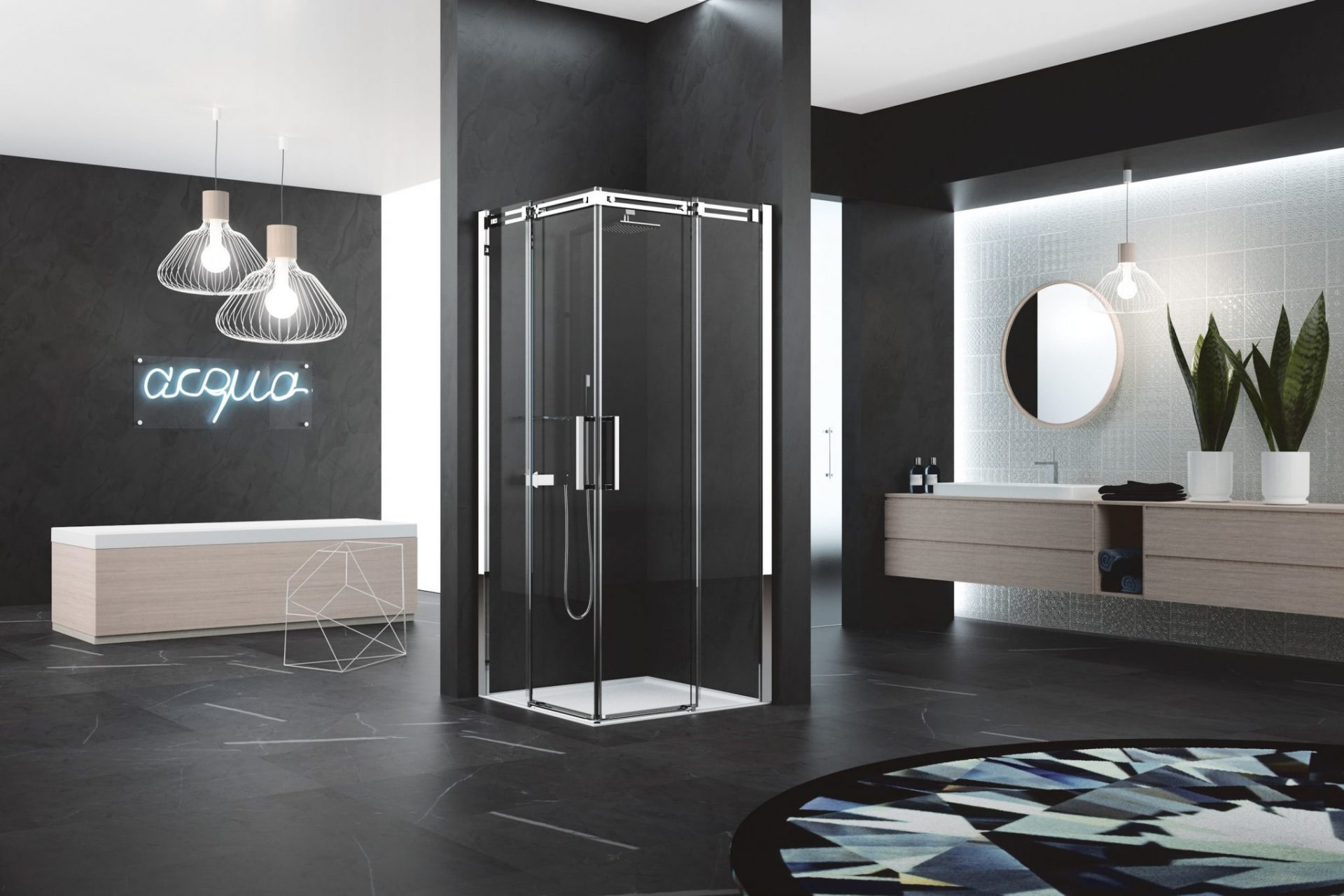 Tipos de mamparas de ducha acana interiorismo - Tipos de mamparas ...