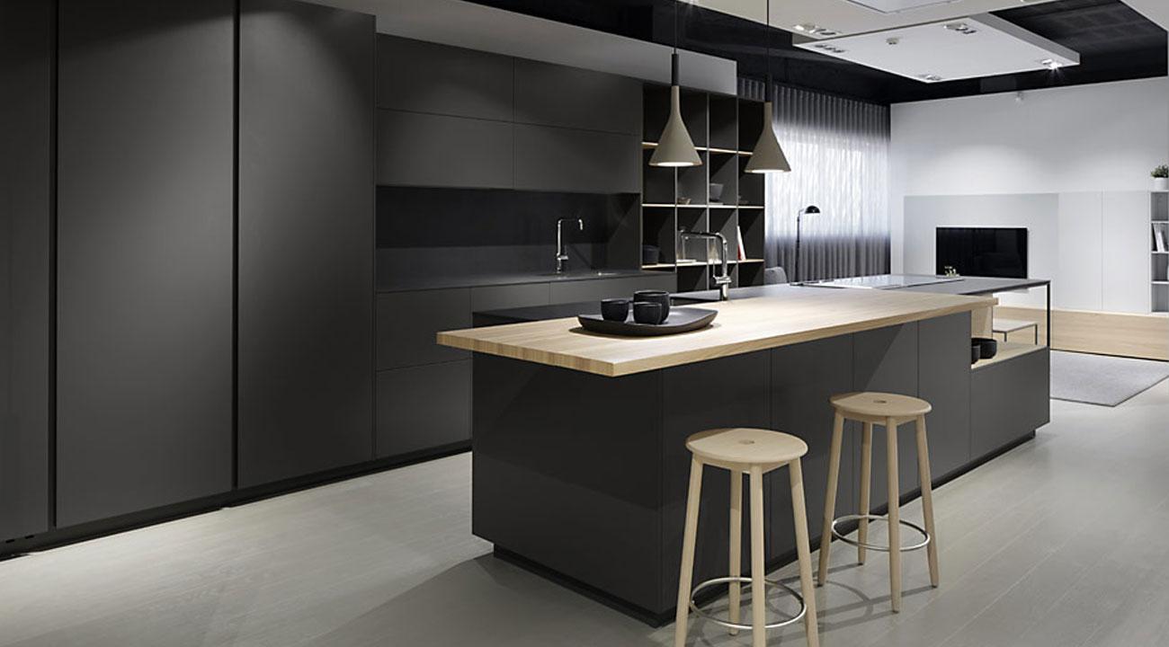 Muebles de cocina a medida con calidad artesanal acana for Cocina color gris y madera