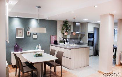 Reforma de una cocina abierta a salón y comedor
