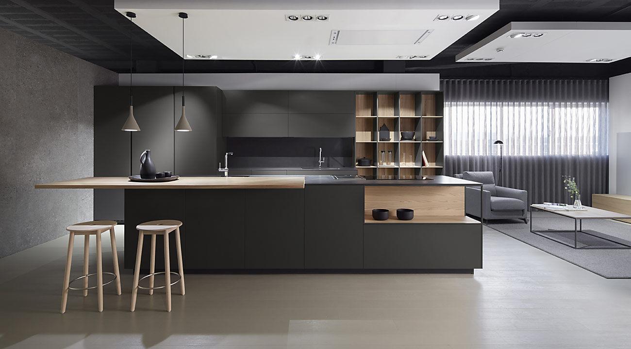 Tendencias en dise o de cocinas acana interiorismo for Cocina de madera antracita