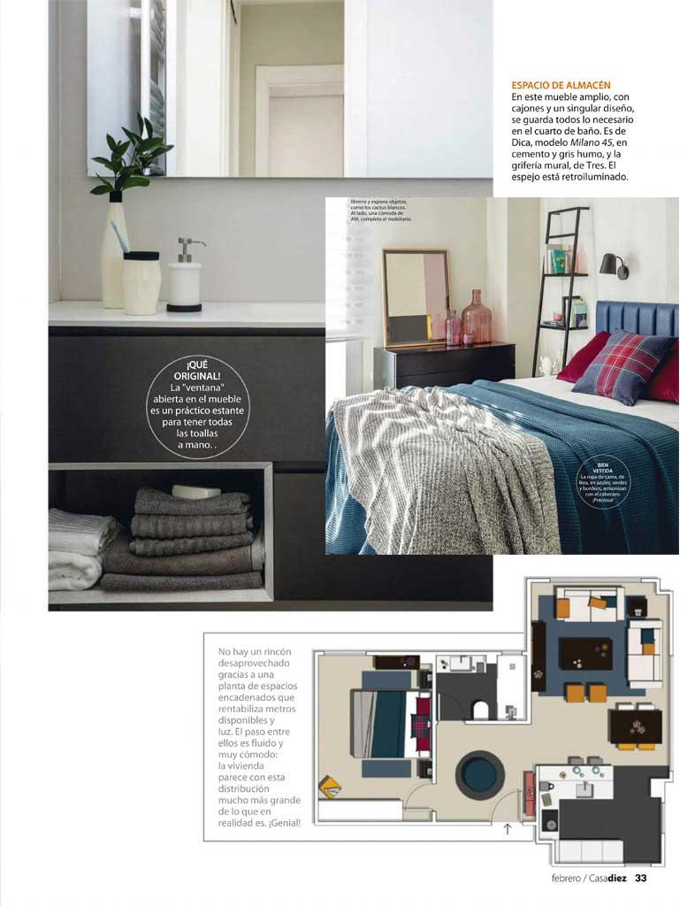 Reforma piso concepto abierto en madrid casadiez Acana Interiorismo