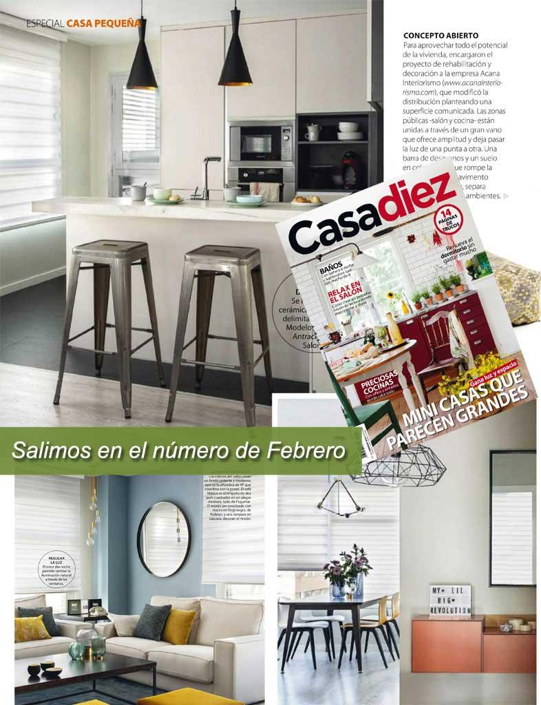 Reportaje Casadiez reforma integral y decoración de piso en Madrid - Acana Interiorismo